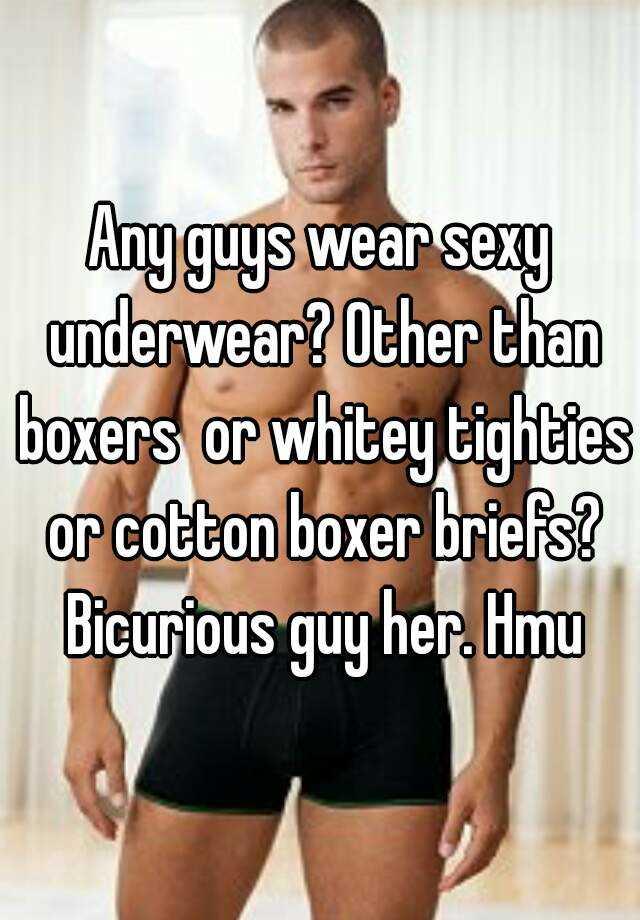 Whitey tighties or boxers