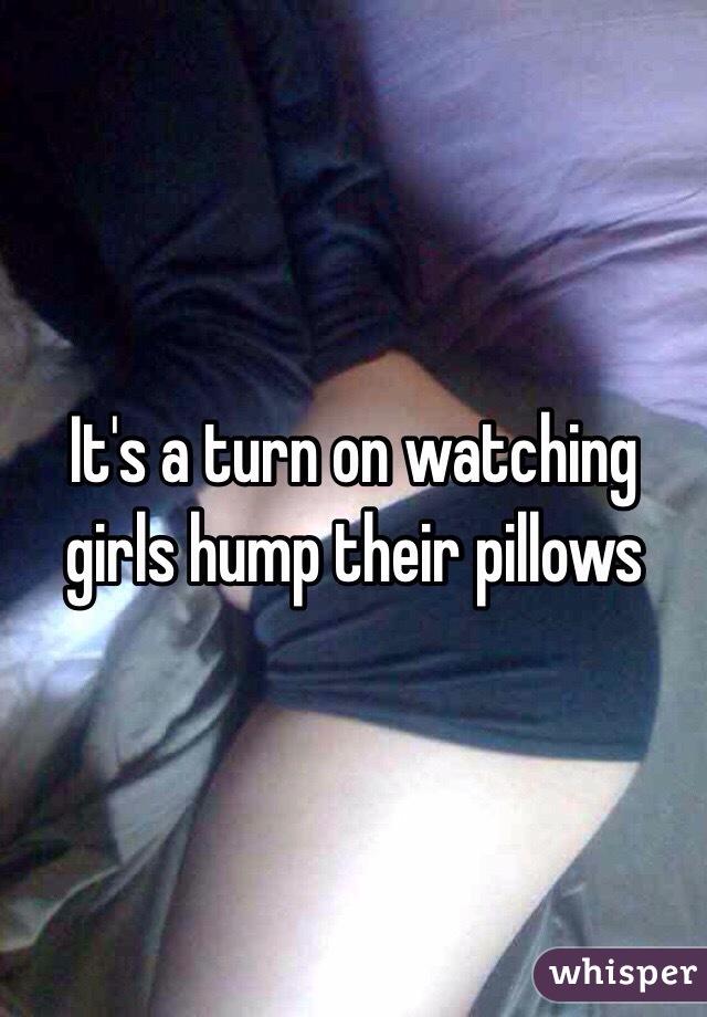 Girls pillow hump