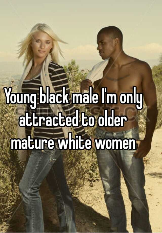 mature black young white