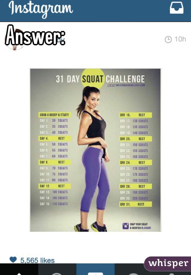 How many squats a day should I do for the best results?