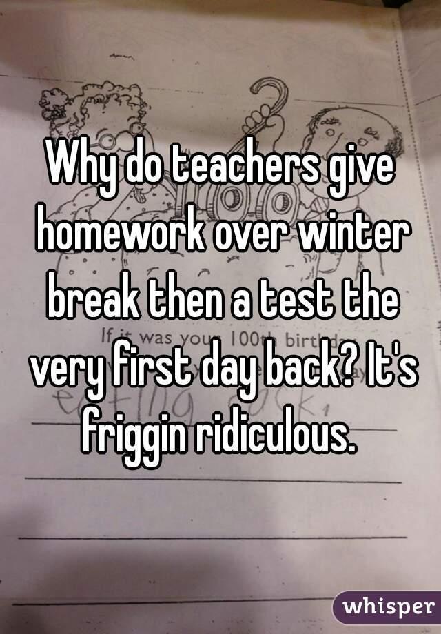 why do teachers give homework
