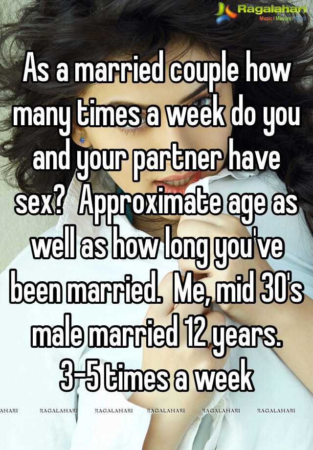 Times per week married couples sex