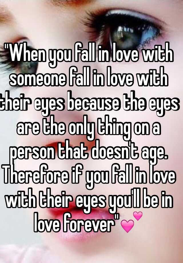 Staring into eyes fall in love