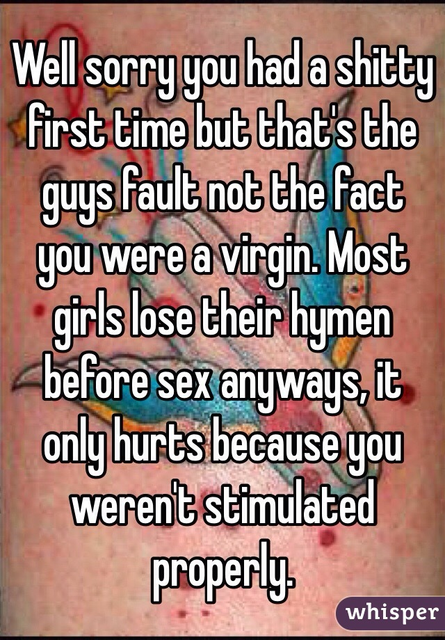 Really. was most girls lose their virginity