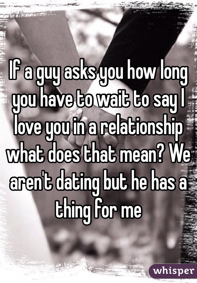 What Does It Mean To Say We Are Dating