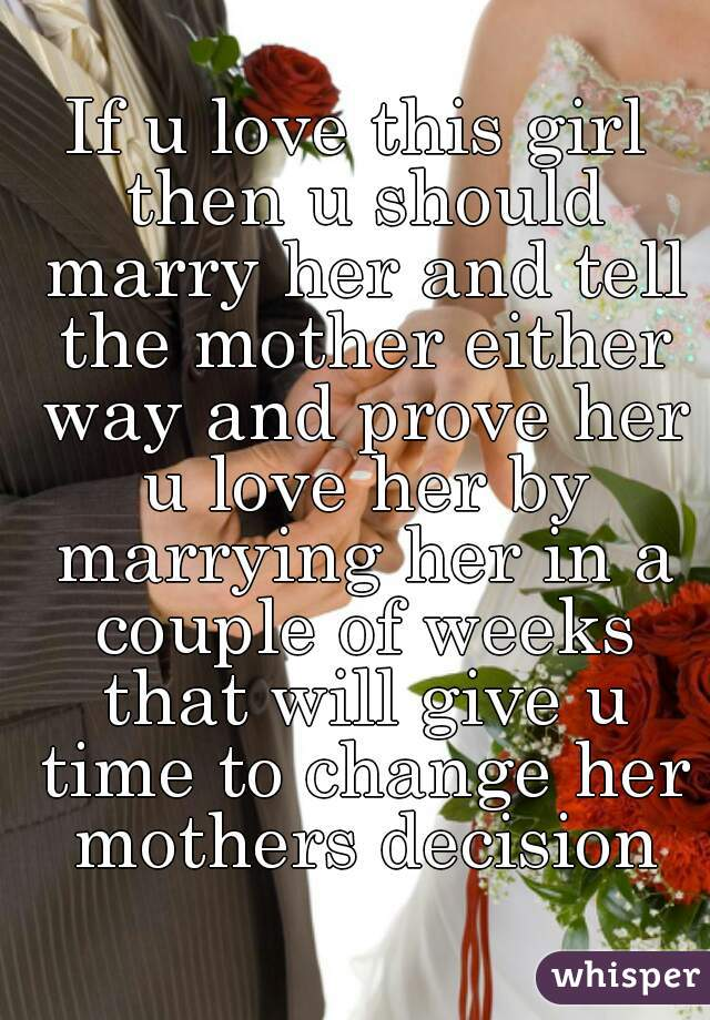 How to know if you should marry her