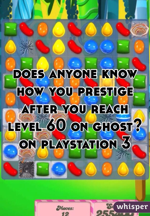 does anyone know how you prestige after you reach level 60 on ghost? on playstation 3