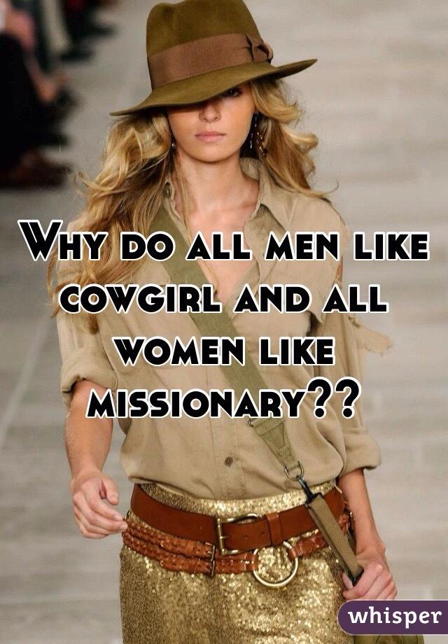 do men like missionary
