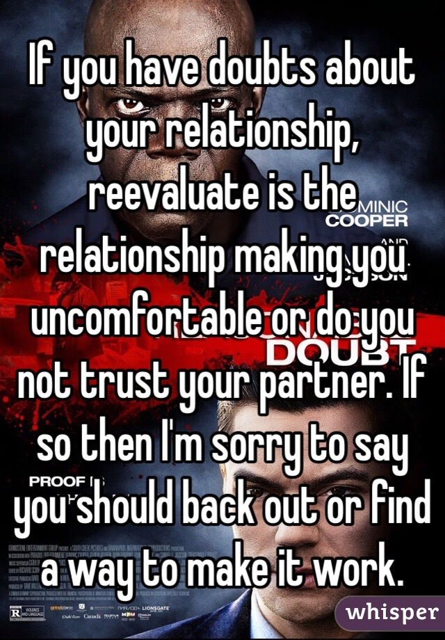 Is It Normal To Have Doubts About Your Relationship