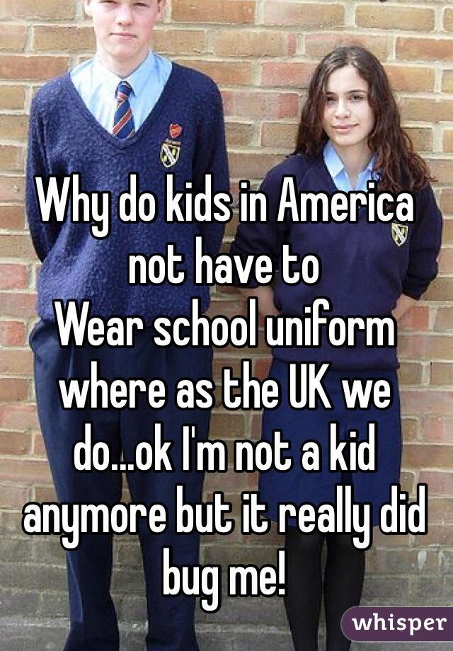School uniform in america Unfortunately! Good