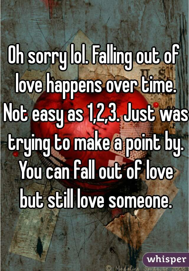How not to fall out of love