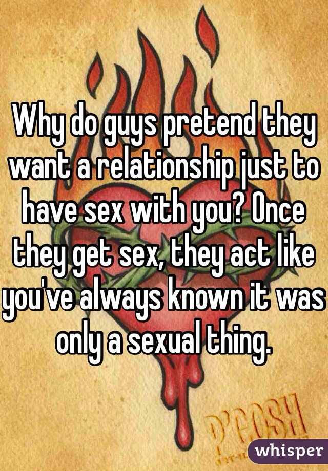 Do guys need sex in a relationship