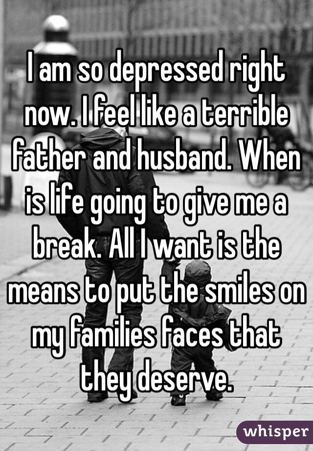 depressed husband is mean