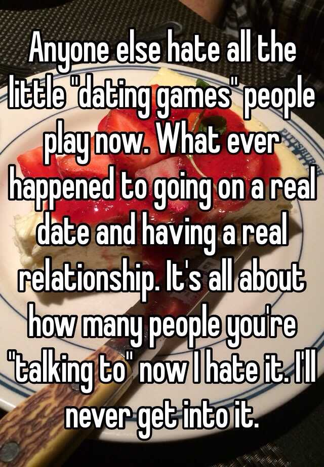 real dating games