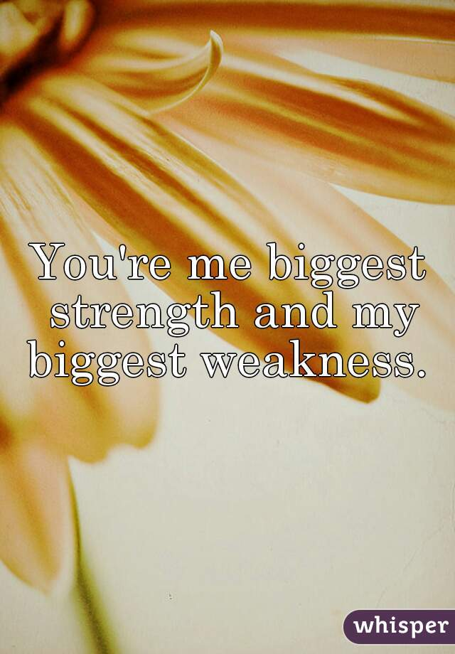 greatest strength and weakness