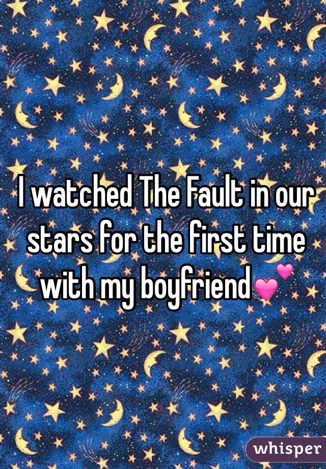 I watched The Fault in our stars for the first time with my boyfriend💕