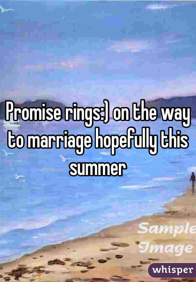 Promise rings:) on the way to marriage hopefully this summer