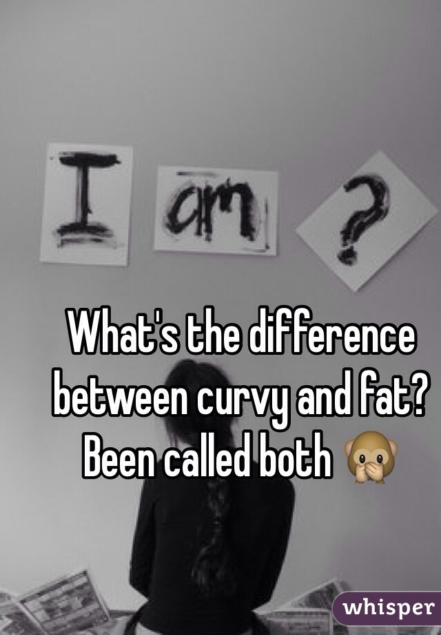 What's the difference between curvy and fat? Been called both 🙊