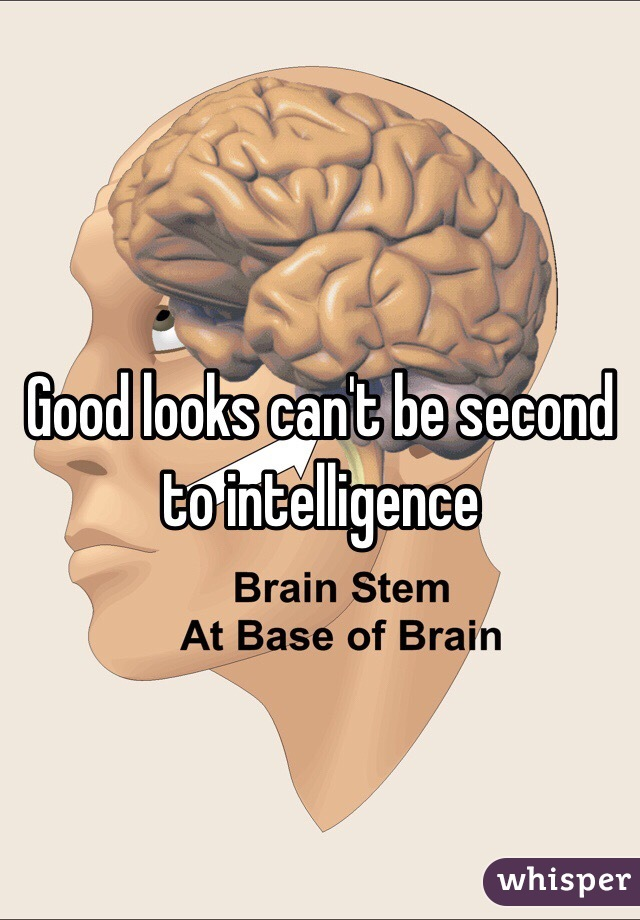 Good looks can't be second to intelligence