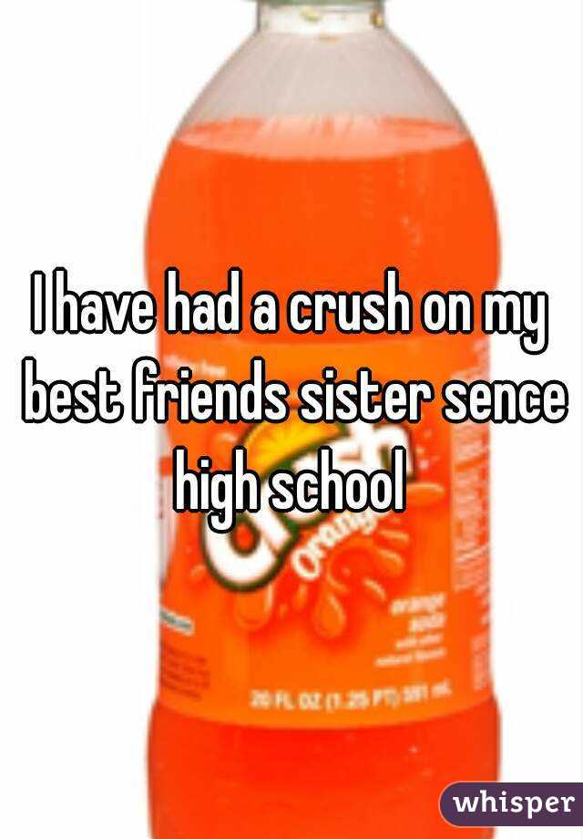 I have had a crush on my best friends sister sence high school