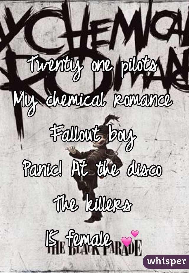 Twenty One Pilots My Chemical Romance Fallout Boy Panic At The