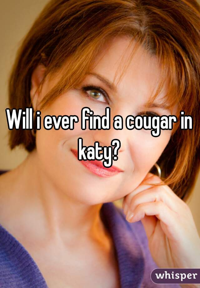 Will i ever find a cougar in katy?
