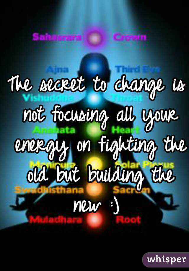 The secret to change is not focusing all your energy on fighting the old but building the new :)