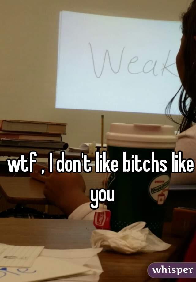 wtf , I don't like bitchs like you