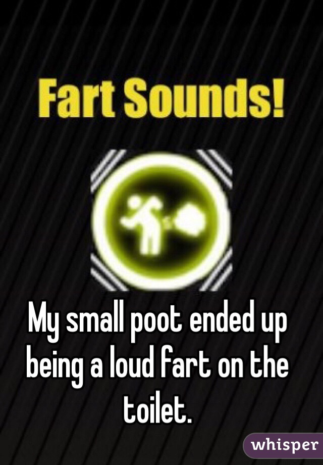 My small poot ended up being a loud fart on the toilet.