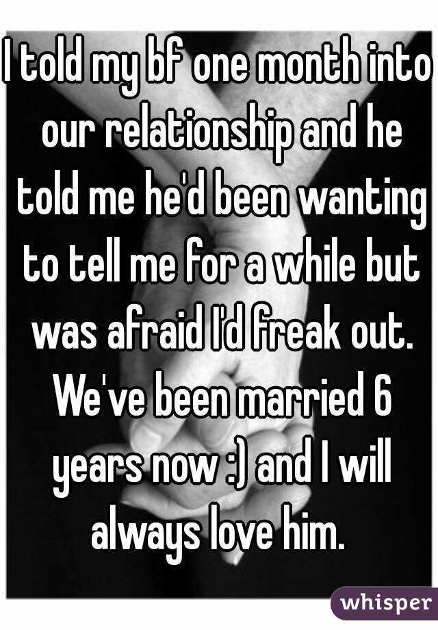 3 month relationship freak out