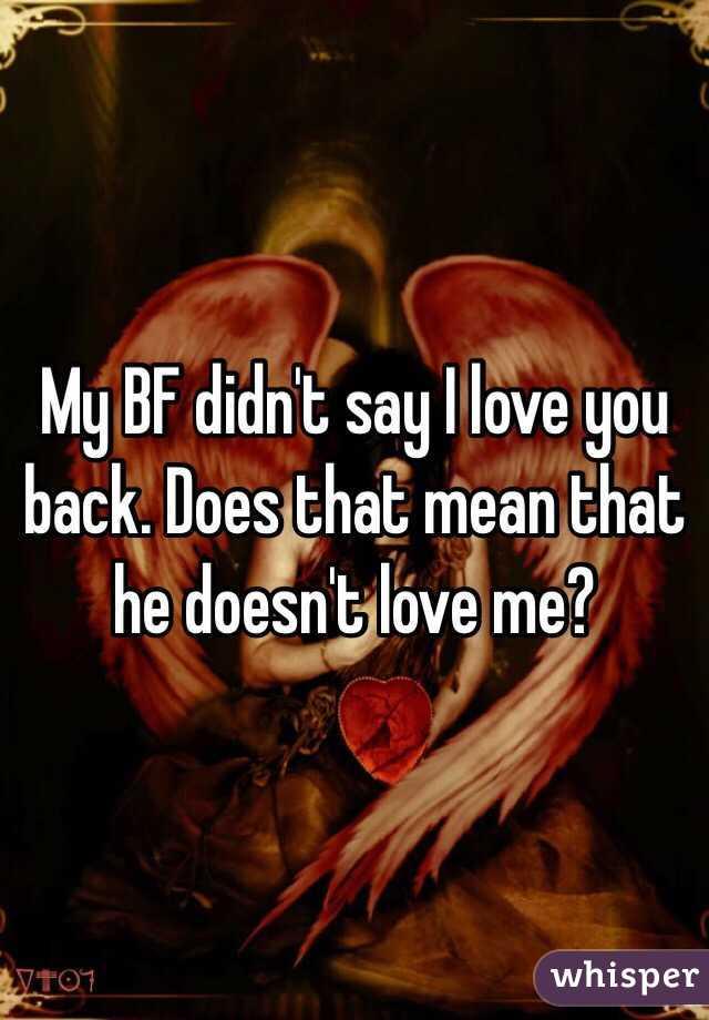 He Didn T Say I Love You Back
