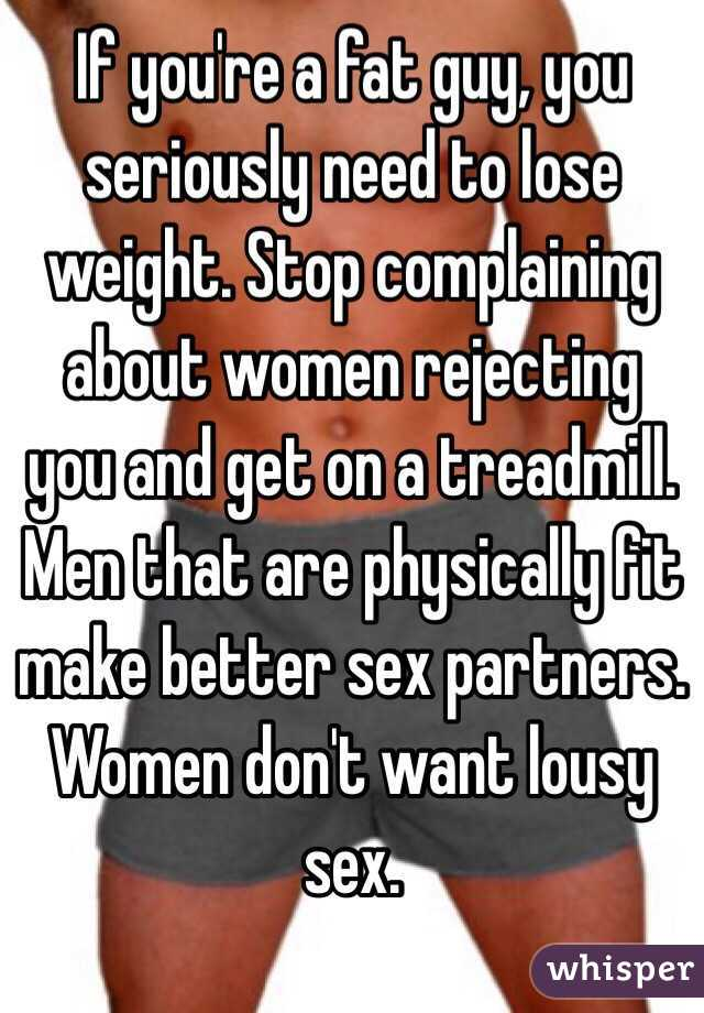 Lose weight for better sex