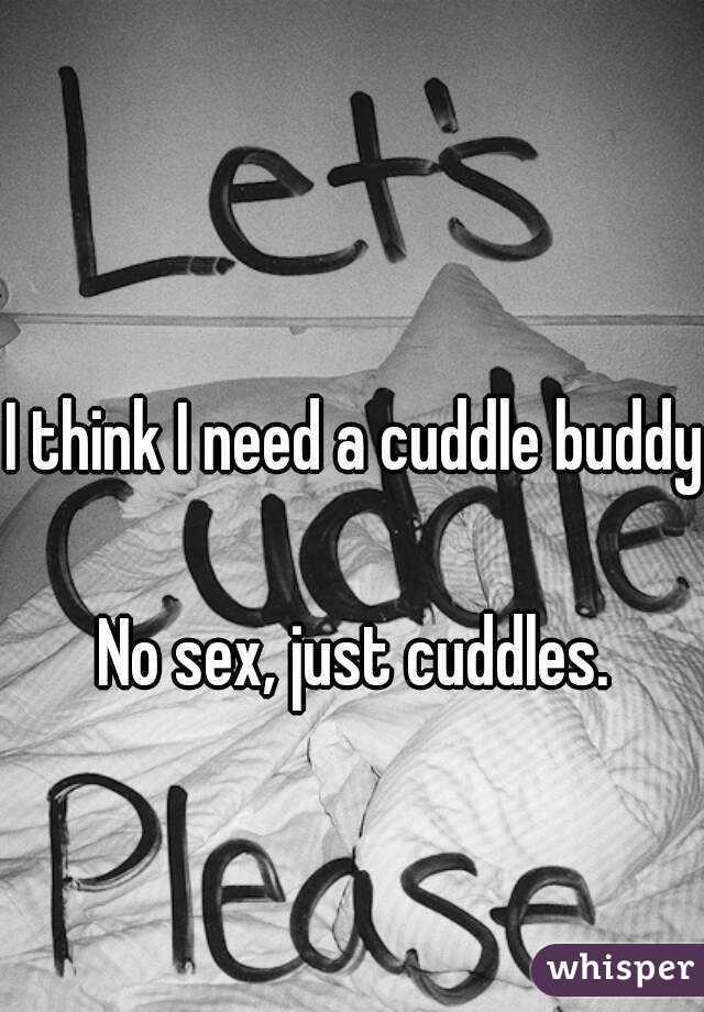 I think I need a cuddle buddy.  No sex, just cuddles.