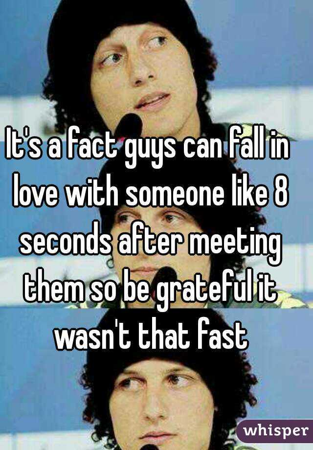 can a guy fall in love fast