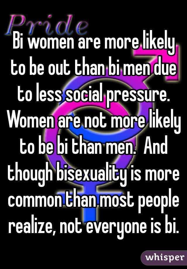 How common is bisexuality in men