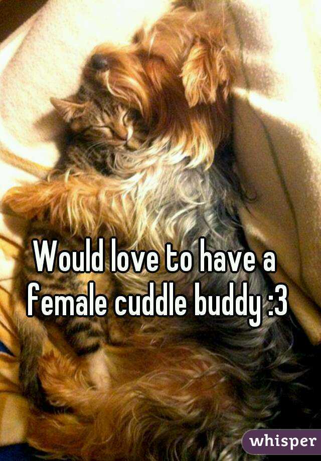 Would love to have a female cuddle buddy :3