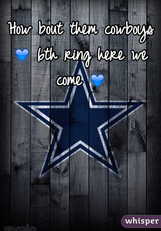 How bout them cowboys 💙 6th ring here we come 💙