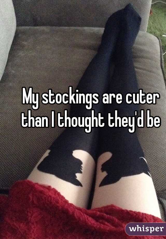 My stockings are cuter than I thought they'd be