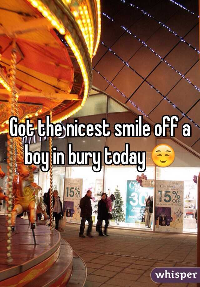 Got the nicest smile off a boy in bury today ☺️