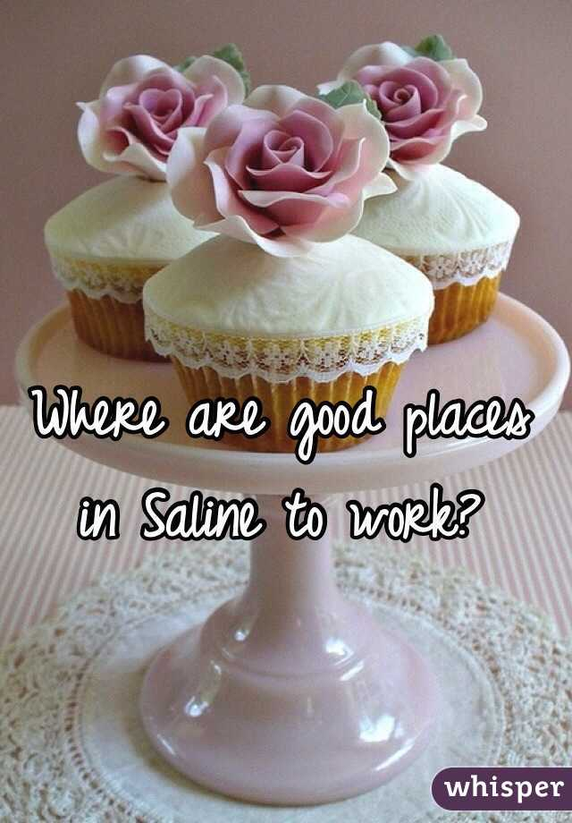 Where are good places in Saline to work?