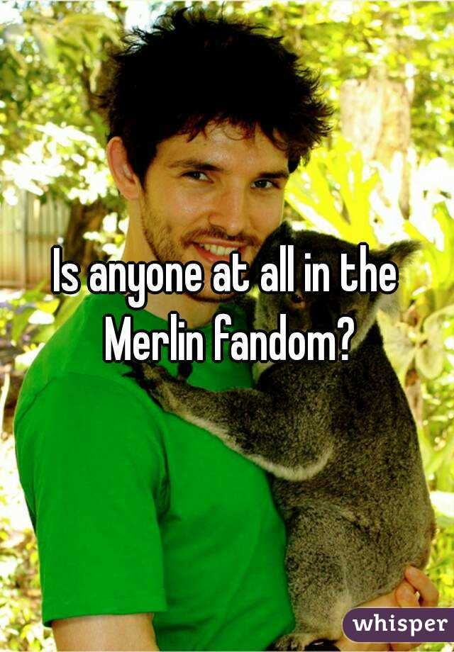 Is anyone at all in the Merlin fandom?
