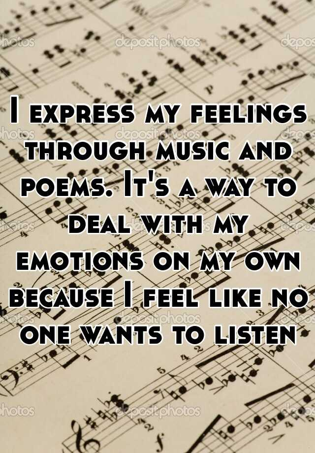 Feelings expressing poems about your 43 Feelings