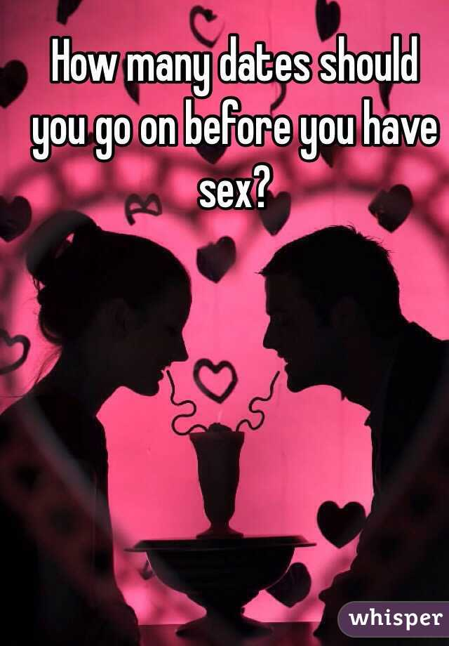 Understand you. how many dates before you have sex does