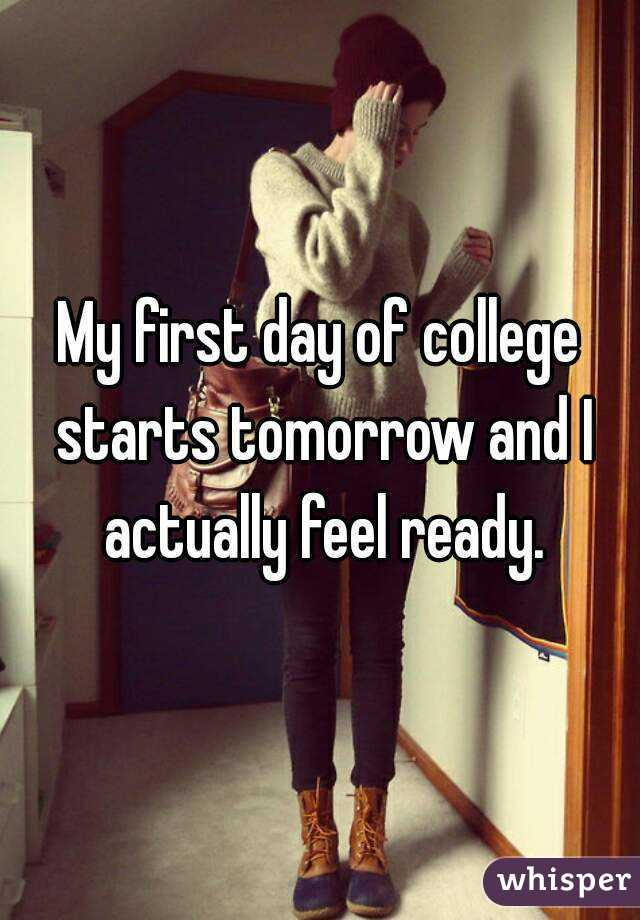 my first day in my college
