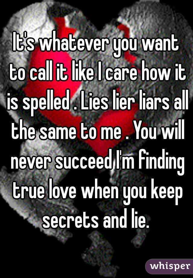 Is it spelled lier or liar