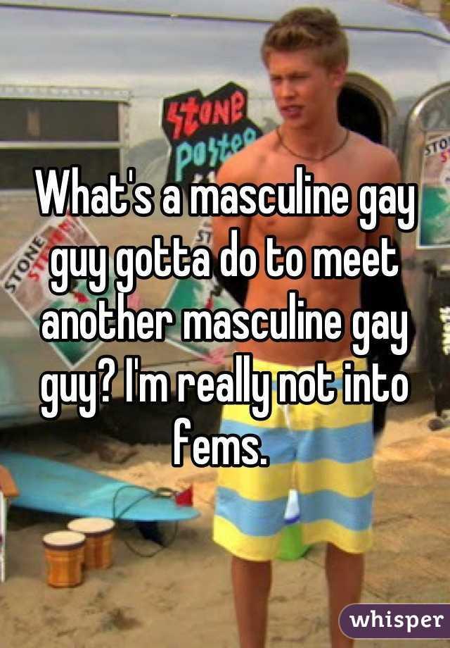 Masculine gay guy