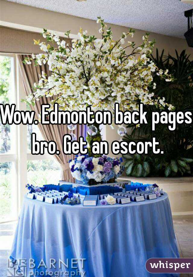 Edmonton back pages escorts