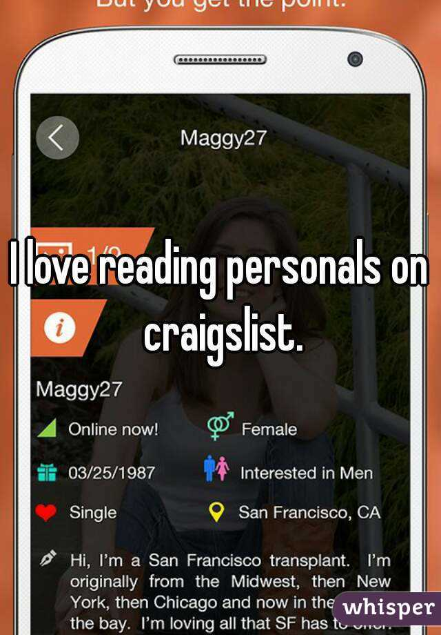 Reading personals