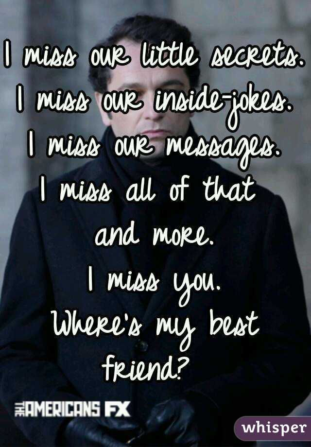 miss you my friend messages