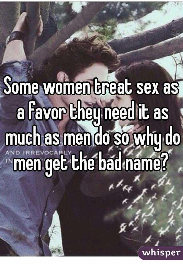 Do women need sex as much as men